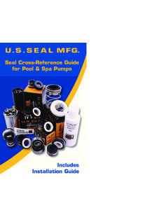 Seal Cross-Reference Guide for Pool & Spa Pumps