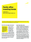 Family office investing trends - EY - United States