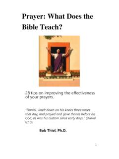 Prayer: What Does the Bible Teach? - COGwriter