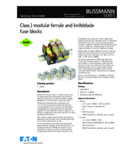 Class J modular ferrule and knifeblade fuse blocks