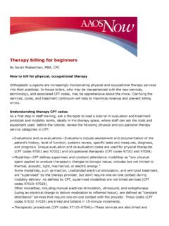 Therapy billing for beginners - …