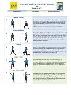 RESISTANCE BAND AND BODY WEIGHT EXERCISES IN …