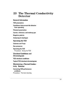 The Thermal Conductivity Detector - UMass Amherst