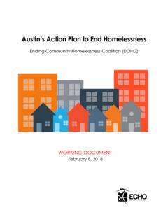 Austin's Action Plan to End Homelessness