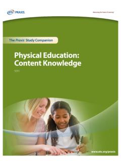 Physical Education: Content Knowledge - ETS Home