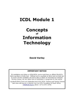 ICDL Module 1 Concepts - UoM
