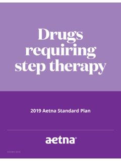 Drugs requiring step therapy - aetna.com