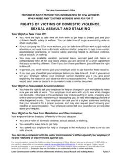 Victims of Domestic Violence Leave Notice