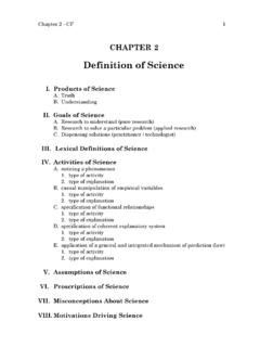 Definition of Science - jsu.edu