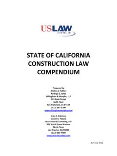 STATE OF CALIFORNIA CONSTRUCTION LAW …