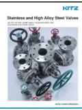 Stainless and High Alloy Steel Valves - Kitz Corporation