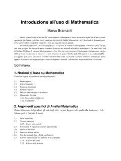 Introduzione all'uso di Mathematica