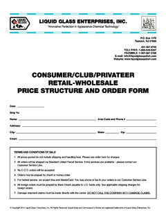 Consumer/Club/Privateer retail-Wholesale PriCe struCture ...