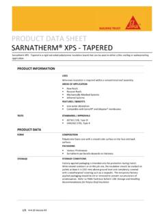 PRODUCT DATA SHEET SARNATHERM® XPS ‐ TAPERED