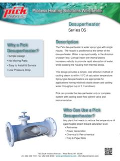 Desuperheater - Pick Heaters, Inc.