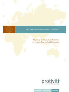 INTERNAL AUDITING AROUND THE WORLD - United States