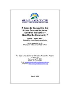 A Guide to Contracting Out School Support Services: Good ...