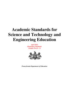 Academic Standards for Science and Technology and ...