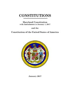 2016 - Maryland Constitution (with Amendments …