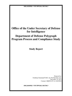 Department of Defense Polygraph Program Process and ...