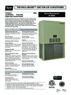 THE WALL-MOUNT™ ONE TON AIR CONDITIONER