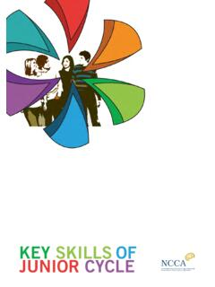 KEY SKILLS OF JUNIOR CYCLE - curriculumonline.ie