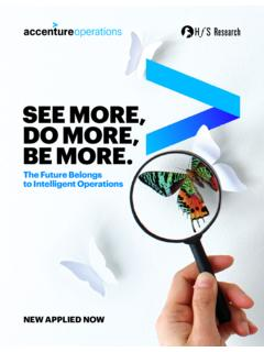SEE MORE, DO MORE, BE MORE. - accenture.com