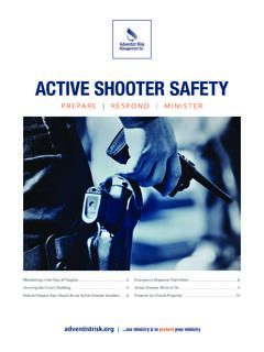 ACTIVE SHOOTER SAFETY - PCSDA.org