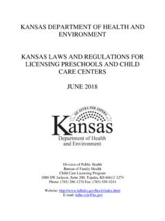 KANSAS DEPARTMENT OF HEALTH AND …