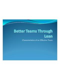 Characteristics of an Effective Team