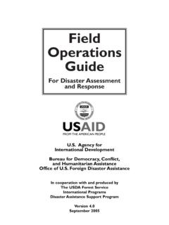 Field Operations Guide - U.S. Agency for International ...