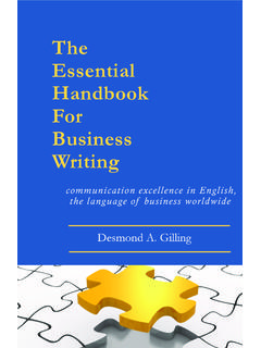 The Essential Handbook For Business Writing