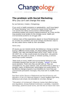 The problem with Social Marketing - Enabling Change