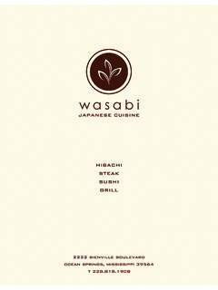 APPETIZERS - Wasabi