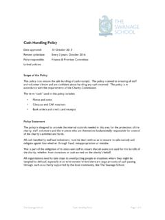TSS Cash Handling Policy - theswanageschool.co.uk