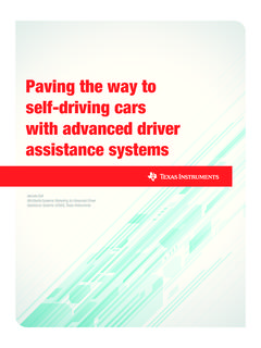 Paving the way to self-driving cars with ADAS - …