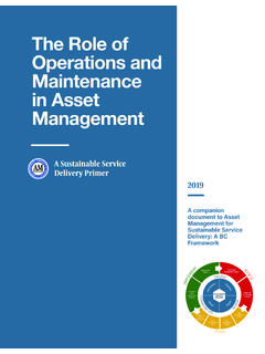 The Role of Operations and Maintenance in Asset Management