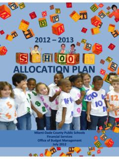 ALLOCATION PLAN - Miami-Dade County Public Schools
