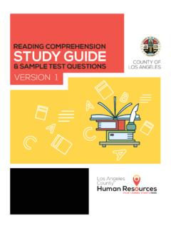 READING COMPREHENSION STUDY GUIDE - Start …
