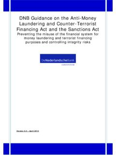 DNB Guidance on the Anti-Money Laundering and Counter ...