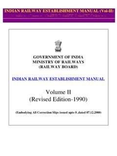 Volume II (Revised Edition-1990) - Govt. Employees …