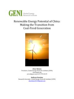 Renewable Energy Potential of China: Making the ... - GENI