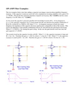 OP-AMP Filter Examples - Astronomy