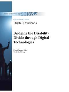 Bridging the Disability Divide through Digital Technologies
