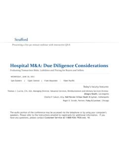 Hospital M&A: Due Diligence Considerations