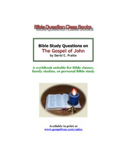 by David E. Pratte - Bible Study Lessons