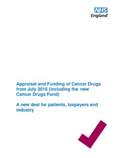 Appraisal and Funding of Cancer Drugs from July 2016 ...