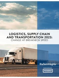 LOGISTICS, SUPPLY CHAIN AND TRANSPORTATION 2023
