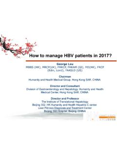 How to manage HBV patients in 2017? - PHC