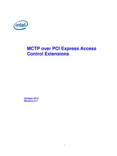 MCTP over PCI Express Access Control Extensions - Intel